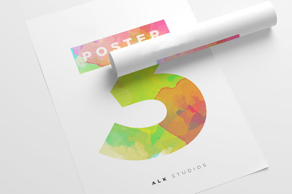 Posters - 80lb Gloss Text - White