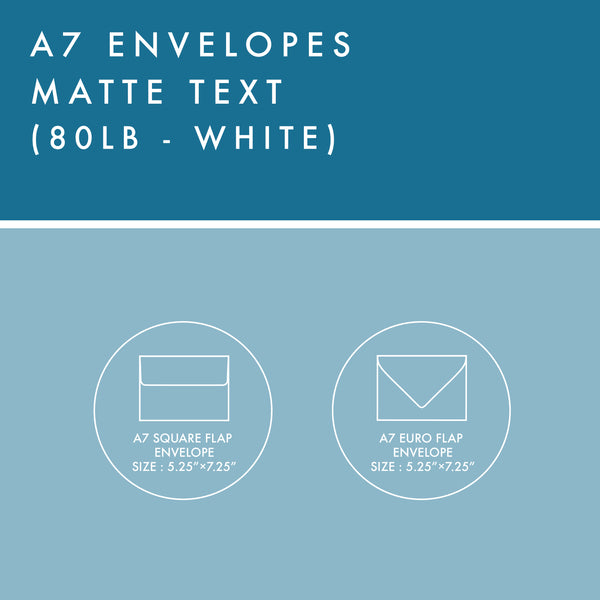 A7 Envelopes - 80lb Matte Text - White