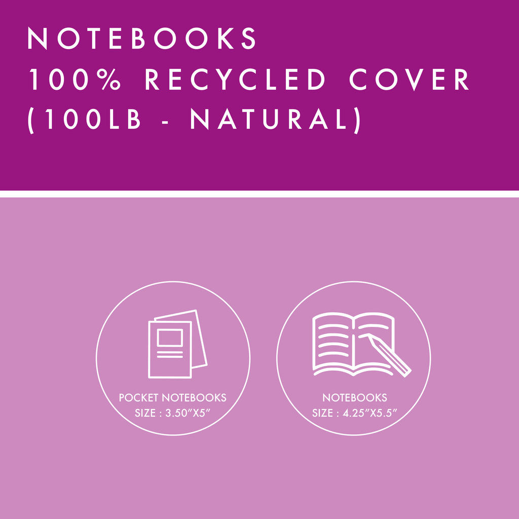 Notebooks - 100% Recycled Cover - Natural