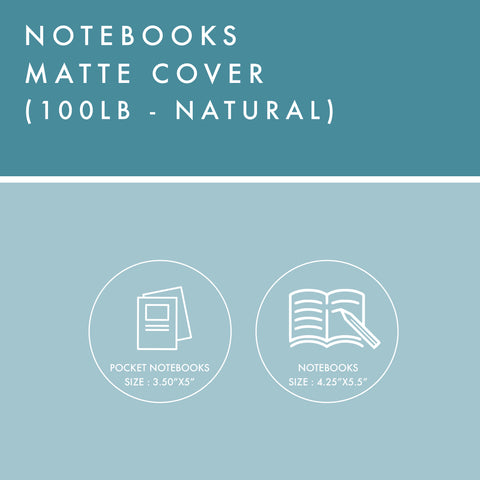 Notebooks - 100lb Matte Cover - Natural