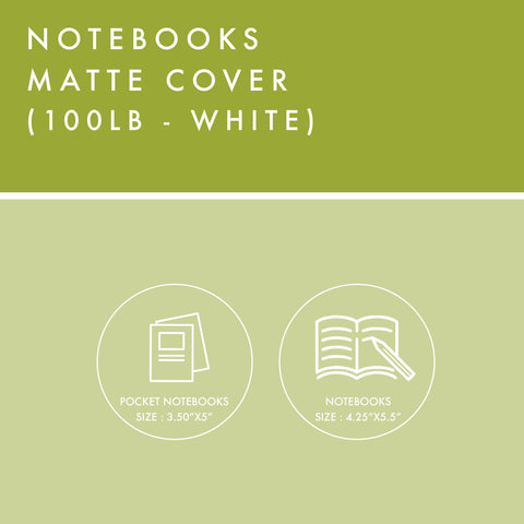 Notebooks - 100lb Matte Cover - White