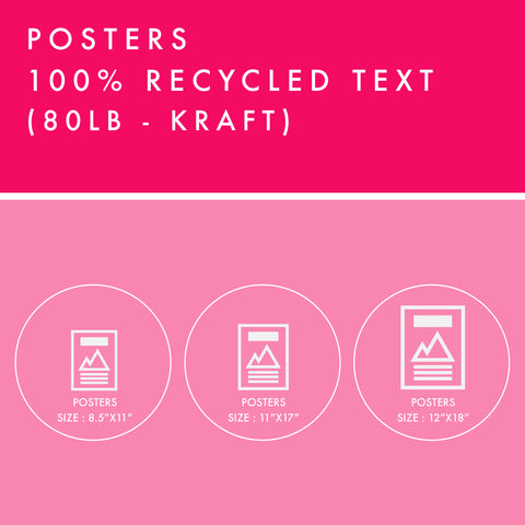 Posters - 100% Recycled Text - Kraft