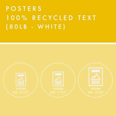 Posters - 100% Recycled Text - White