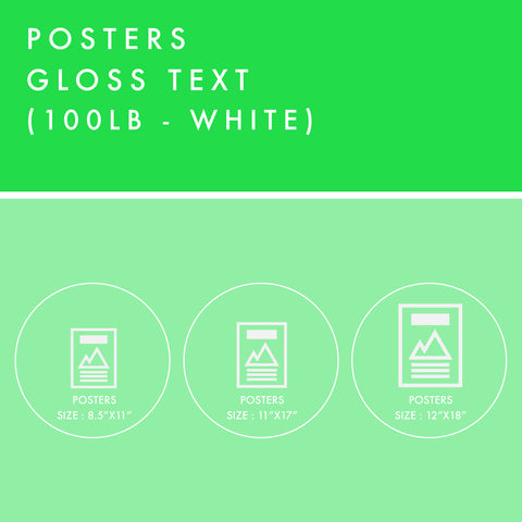 Posters - 100lb Gloss Text - White