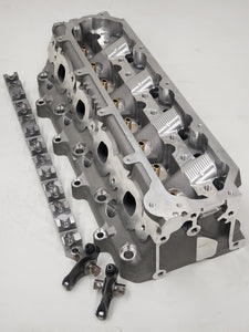 "GE 2.5"" MCSA 277cc Shaft Mount Rocker System LT4 Chamber CNC Ported Cylinder Heads (Price Per Pair BARE)"