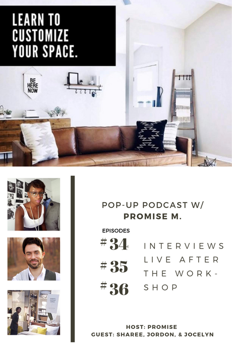 Pop-up Podcast hosted by Promise M.
