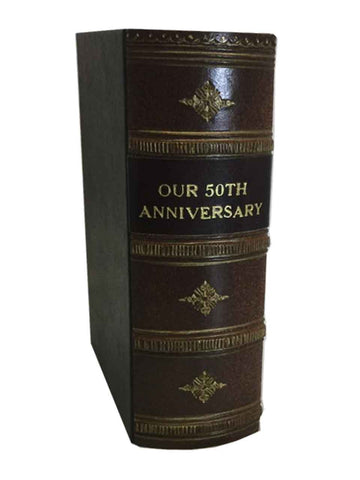 OUR 50TH ANNIVERSARY - Antique Style Photo Album