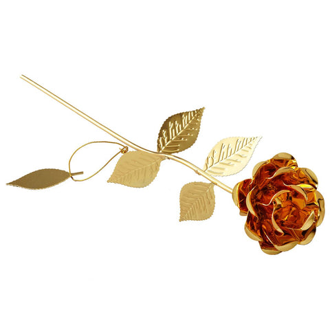Gold Gilt Plated Rose - 12""