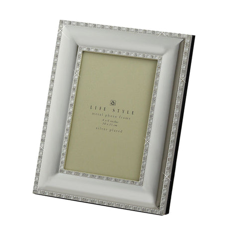 Silver Plated and Crystal Photo Album - 4x6