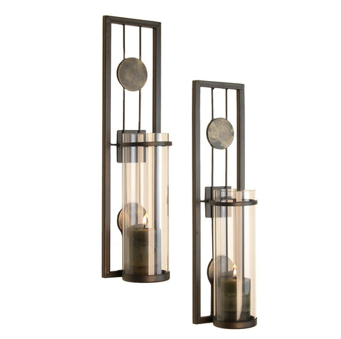 QBA636 CONTEMPORARY METAL WALL SCONCE SET