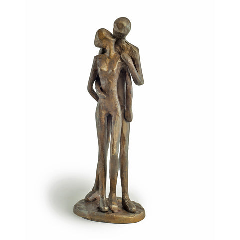 ZD11075 COUPLE KISSING BRONZE