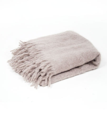 Mohair Throw - Hand made in Ireland