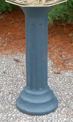 Rome Cast Iron Roman Pedestal, Antique Gray, 20""
