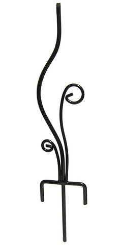 Rome Wrought Iron Flowerbed Pedestal, Black, 20""