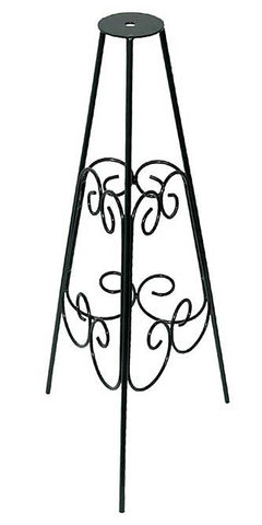 Rome Wrought Iron Scrollwork Pedestal, Black, 24""