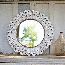 Kalalou Round Oyster Shell Mirror Large  24""