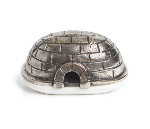 Go Home Brushed Nickel Igloo Butter Dish