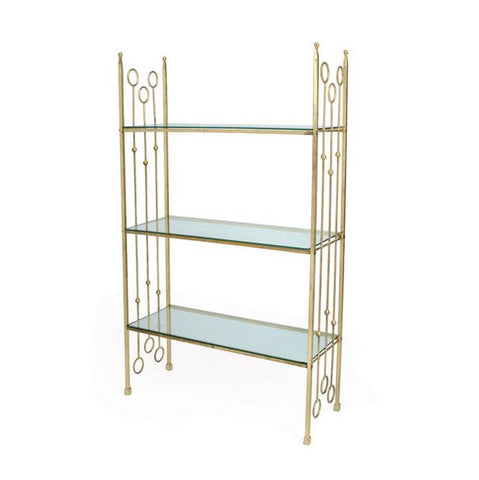 "Go Home 19815 | New Castle Iron Ring Shelf 35""l x 60.5""h"