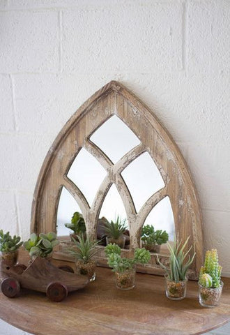 Kalalou Short Church Mirror 23.5x24""