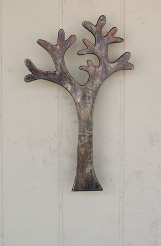 Kalalou Cast Aluminum Tree Coat Rack Antique Black