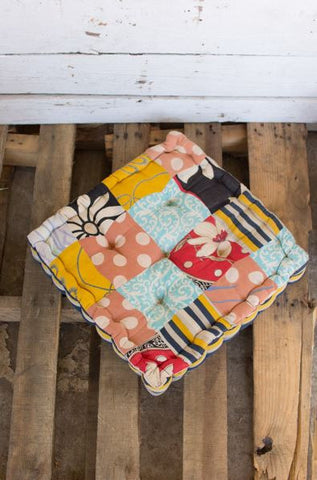 Kalalou Square Kantha Floor Cushion 17""