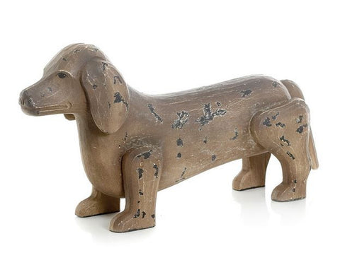 Go Home Antique Painted Finish Dachshund Dog