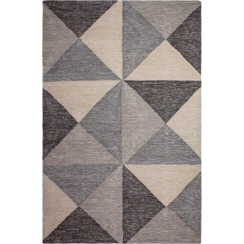 Fab Habitat Coonoor - Multi - Gray and Black Rug (Various Sizes)