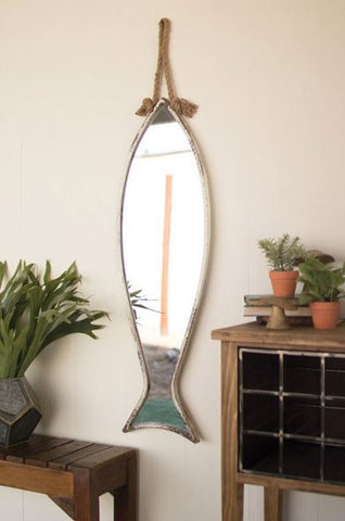"Kalalou Vertical Fish Mirror 40""t"