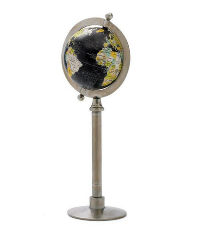 Go Home Globe On Straight Stand 21""