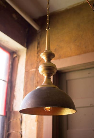 KALALOU METAL PENDANT LIGHT WITH ANTIQUE GOLD FINISH 16dx29t
