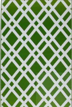 Fab Habitat Dublin - Lime Green & White Indoor/Outdoor Rug  (Various Sizes)