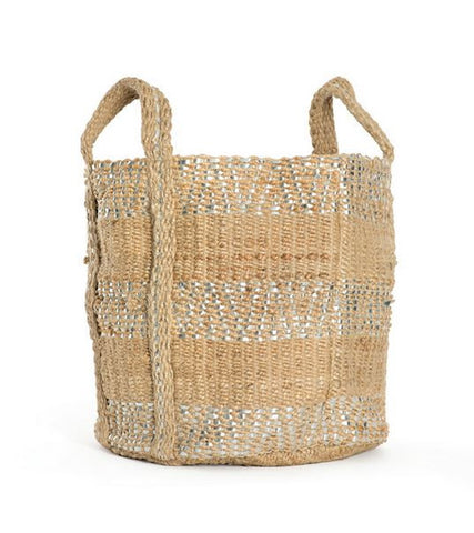 Go Home Two-Toned Jute Basket