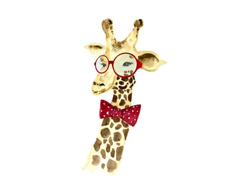 Leftbank Manly Giraffe With Spectacles Canvas