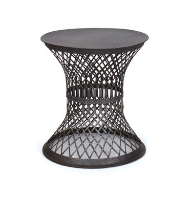 "Go Home  Iron Lattice Side Table  21"" H x 19"" Dia."