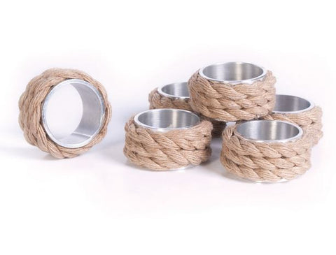 Go Home Set of 12 Coastal Napkin Rings