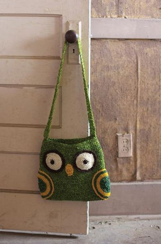 "Crochet Owl Purse 27""t"