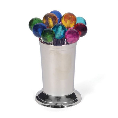 Go Home Set Of Twelve Multicolor Party Picks