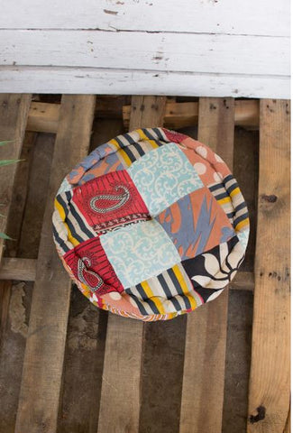 Kalalou Round Kantha Floor Cushion