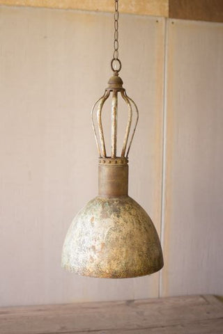 Kalalou Metal Dome Pendant Light