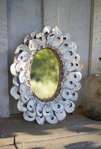 Kalalou Oyster Shell Mirror Small 18.5""