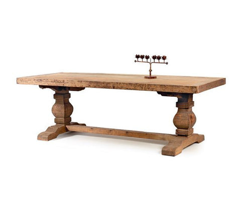 "Go Home Swinderby Trestle Dining Table 94.25""l"