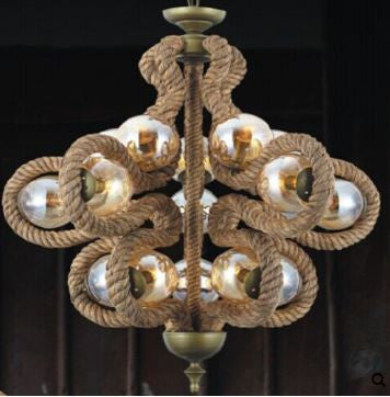 VIG Modrest Barrel Modern Rope Chandelier