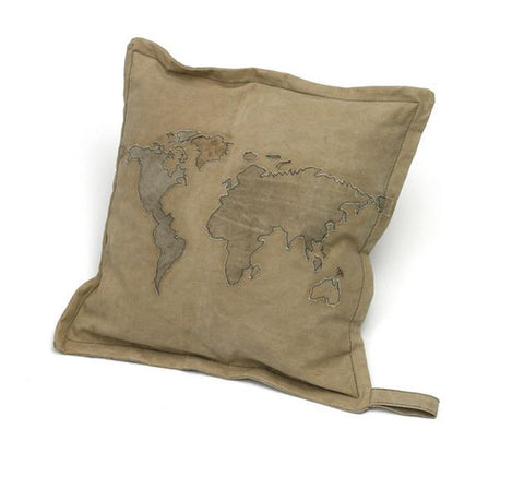 Go Home World Map Pillow