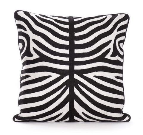 Go Home Zebra Pillow 20x20