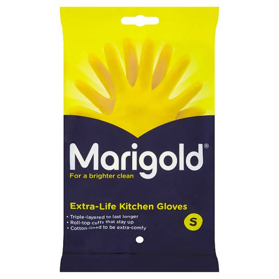 Marigold Extra-Life Kitchen Gloves Small 6 Pack