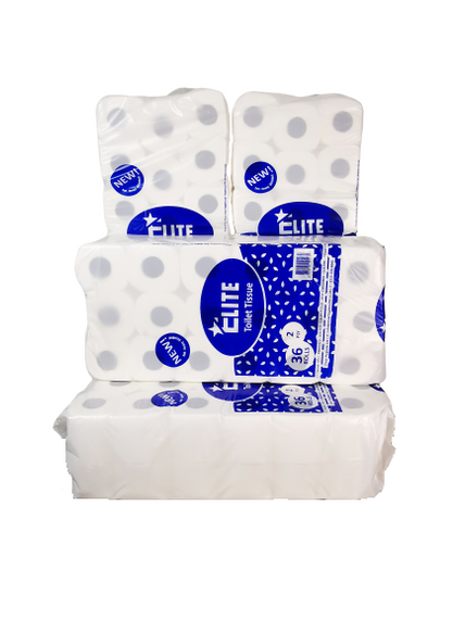 Elite™ 2Ply Quilted & Embossed Luxury Toilet Tissue