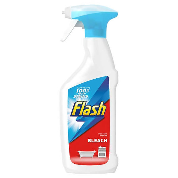 Flash Multi Purpose Cleaning Spray Bleach For Hard Surfaces 10 x 450ML