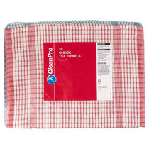 Clean Pro Check Tea Towels 10 Pack (46cm x 70cm)