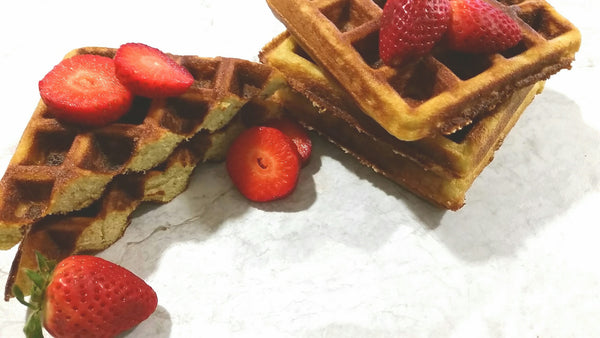 Waffles (SCD, Gluten-Free and Paleo) 4 Waffles