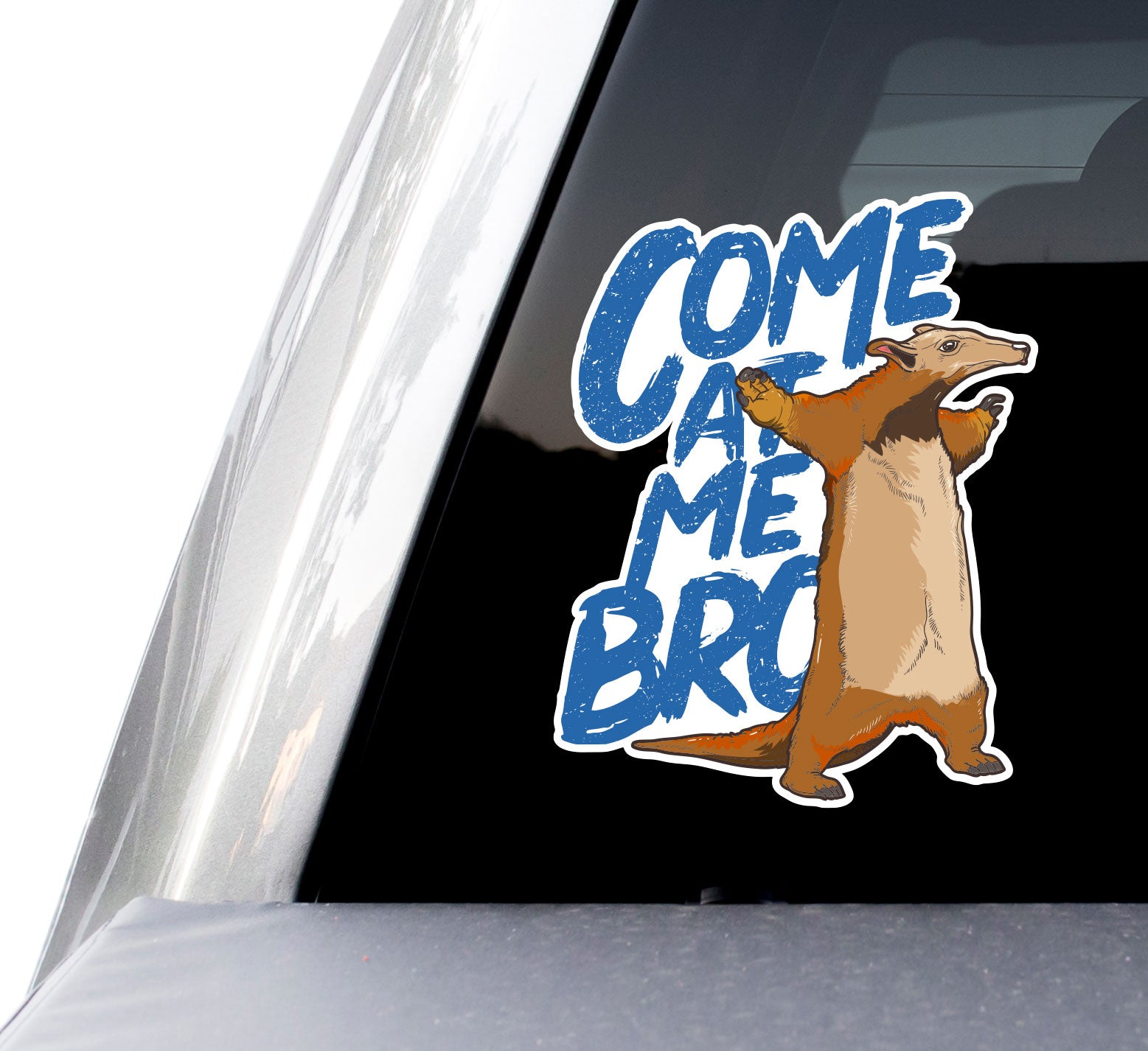 """Come at Me Bro!"" Anteater Decals (2 Pack) (5"" and 3"")"